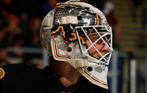 Johnson demonstrates goaltending depth in Boston (Photo Credit - @NHLBruins)